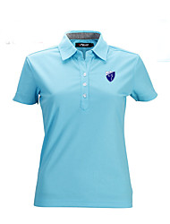 cheap -Women's Short Sleeves Golf Top Breathable Sweat-wicking Comfortable Lightweight Materials Golf Leisure Sports
