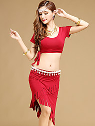 Shall We Belly Dance Outfits Women Performance Modal Top Skirt