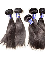 Недорогие -Натуральные волосы Пряди натуральных волос Реми Прямой Перуанские волосы 500 g Более года