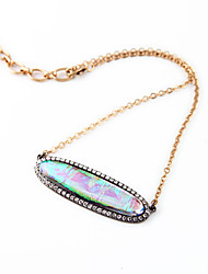 Women's Statement Necklaces Oval Chrome Unique Design Jewelry For Gift Daily