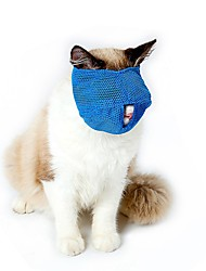 abordables -Gato Perro Bozales Ajustable / Retractable Impermeable Transpirable Un Color Malla Azul Rosa