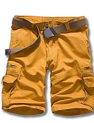 abordables -Homme simple Coton Droite Short Pantalon Couleur Pleine