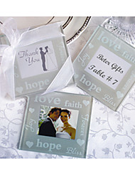 cheap -2pcs/set Hope / LOVE / Faith Photo Frame Coaster Beter Gifts® Tea Party Favor