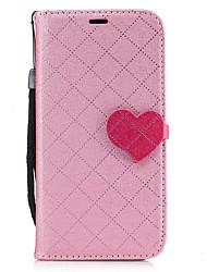 Недорогие -Кейс для Назначение SSamsung Galaxy A5(2017) A3(2017) Кошелек Бумажник для карт со стендом Чехол Полосы / волосы С сердцем Твердый