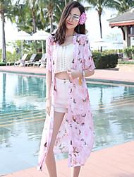 Women's Beach Going out Casual/Daily Casual Cute Boho Summer Jacket