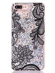 economico -Per iPhone 8 iPhone 8 Plus Custodie cover Liquido a cascata Transparente Custodia posteriore Custodia Glitterato Resistente PC per Apple