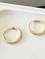 cheap -Women's Hoop Earrings Earrings Fashion Simple Style Costume Jewelry Alloy Circle Jewelry For Daily Casual Sports