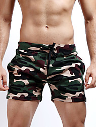 cheap -Men's Mid Rise Micro-elastic Straight Slim Shorts Pants,Casual Active Sexy Street chic Camouflage Cotton Summer All Seasons