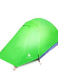 baratos -2 Pessoas Tenda Dupla Camada Barraca de acampamento Ao ar livre Barracas de Acampar Leves Prova-de-Água / Á Prova-de-Chuva / Á Prova de
