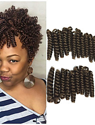 cheap -1pack new Bouncy Curl crochet braids Toni curl 10inch synthetic kanekalon braiding hair 20 roots/pack curls bouncy twist crochet hair 5packs make head