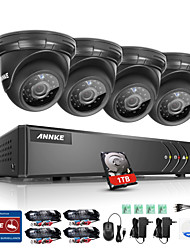 ANNKE ®8CH 4PCS 720P HD Video 1080N 5 in 1 DVR Eye Spy Monitor IR CUT Night Vision Waterproof Surveillance System 1TB