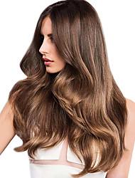 Недорогие -1 комплект Индийские волосы Крупные кудри Натуральные волосы Мелированные Волосы 10-18 дюймовый Ткет человеческих волос Горячая распродажа Расширения человеческих волос / 8A