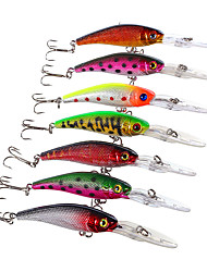cheap -7 pcs Hard Bait Minnow Fishing Lures Minnow Hard Bait Hard Plastic Sea Fishing Fly Fishing Bait Casting Spinning Jigging Fishing