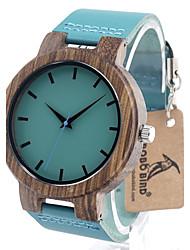 Herre Modeur Armbåndsur Unik Creative Watch Casual Ur Ur Træ Japansk Quartz Japansk Quartz Af Træ Ægte læder BåndVintage Sej Afslappet
