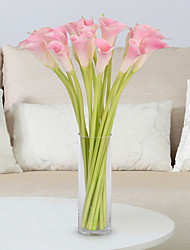 cheap -5 Branch PU Calla Lily Tabletop Flower Artificial Flowers