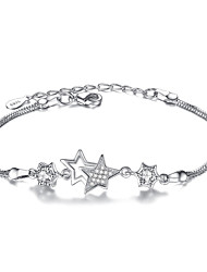 cheap -Women's Sterling Silver Star Chain Bracelet - Fashion White Purple Bracelet For Christmas Gifts Party Special Occasion