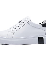 Camel Women's Comfort Light Soles Cow Leather Sport Casual Flat Heel Lace-up Shoes Color White