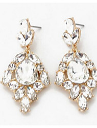 Per donna Orecchini a goccia imitazione diamante Pendente Di tendenza Euramerican bigiotteria Zirconi Gioielli Per Matrimonio Feste