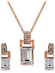Ciondoli Collana Orecchini Set Cristallo Zirconi Di tendenza Euramerican Cristallo Zircone cubico Lega Quadrato1 collana 1 paio di