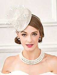 Lino Copricapo-Matrimonio Occasioni speciali Casual Formale Cappelli 1 pezzo