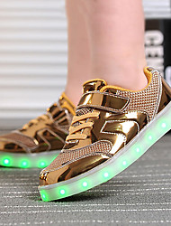 cheap -Boys' Shoes PU Tulle Summer Fall Light Up Shoes Novelty Comfort Sneakers Walking Shoes LED Hook & Loop Lace-up for Athletic Casual Outdoor