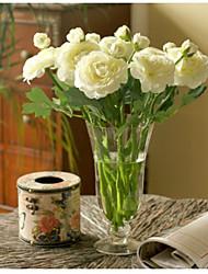 Недорогие -10 Филиал Шелк Пионы Букеты на стол Искусственные Цветы