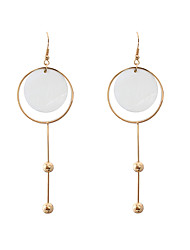cheap -Women's Girls' Drop Earrings Jewelry Circular Unique Design Tag Square Classic Fashion Personalized Hypoallergenic Cowry Alloy Drop