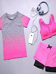 Per donna Tuta da ginnastica Traspirante Comodo Tuta da ginnastica per Yoga Esercizi di fitness Corsa Tessuto sintetico Arancione Grigio