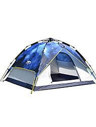 3-4 personnes Tente Double Tente de camping Une pièce Tente automatique Etanche pour Camping 2000-3000 mm Oxford CM