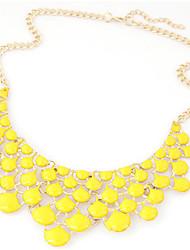 Mulheres Colares Declaração Caído Acrílico Strass Liga Moda Estilo Boêmio Bijuterias Destaque bijuterias Jóias Para Aniversário Noivado