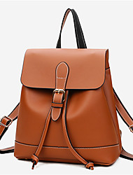 cheap -Women Bags Other Leather Type Backpack for Casual All Seasons Brown Black Red