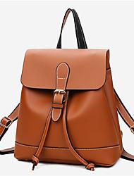 preiswerte -Damen Taschen Andere Lederart Rucksack für Normal Ganzjährig Braun Schwarz Rote