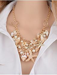 baratos -Mulheres Para Meninas Diamante sintético Imitação de Pérola Gargantilhas Colares com Pendentes Colares Declaração  -  Original Rhinestone