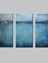 cheap -Hand-Painted Abstract Horizontal, Modern European Style Canvas Oil Painting Home Decoration Three Panels