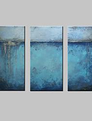 Pittura a olio astratta moderna dipinta a mano su arte della parete della tela di canapa per la decorazione domestica pronta ad appendere
