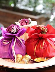 Недорогие -подушка шелк пользу держатель с подарочными коробками-12 свадебных услуг красивой