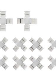 Недорогие -10pcs pack x переходная форма припой без защелкивания 4-проводной разъем для проводов с разветвителем 10 мм шириной 5050 rgb flex led