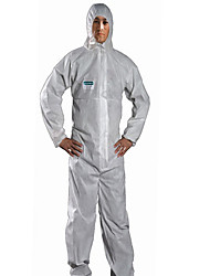 cheap -SataAnti-staticClothingXXL BreathableFilmDust-proofAndAnti-static Paint Chemical Protective Clothing Overalls With capGarment /1