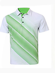 cheap -Men's Short Sleeves Golf Breathable Comfortable Sweat-wicking Golf Leisure Sports
