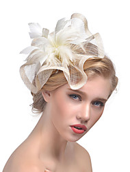 cheap -Tulle Feather Fascinators 1 Wedding Special Occasion Headpiece