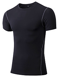 cheap -Men's Running T-Shirt Short Sleeves Quick Dry Breathable Sweat-wicking Comfortable T-shirt Compression Clothing Top for Yoga Exercise &