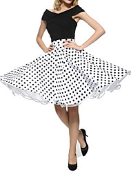 cheap -Maggie Tang 50s Retro VTG Pinup Rockabilly Swing Polka Dot Skirt 575