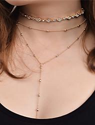 baratos -Mulheres Conjunto de jóias - Strass Personalizada, Borla, Fashion Incluir Colar Dourado / Prata Para Festa / Ocasião Especial / Ao ar livre / Colares