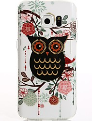 cheap -For Galaxy S7 S8 S7 Edge S8 Plus Cartoon Black Owl TPU Protection Back Cover Box