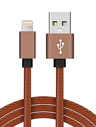 economico -Lightning USB 2.0 Intrecciato Alta velocità Placcato in oro Cavi Per iPhone iPad MacBook Macbook Air MacBook Pro cm Similpelle Alluminio