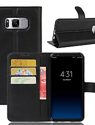 Case Cover Wallet Card Holder Shockproof with Stand Full Body Case Solid Color Hard PU Leather for SamsungS8 S8 Plus S7 edge S7 S6