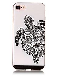Pour apple iphone 7 7 plus 6s 6 plus se 5s 5 carton couverture motif tortue relief peint haute pénétration tpu matériel coffret pour
