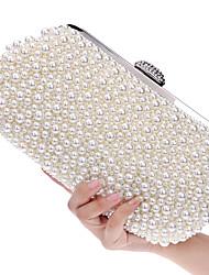 Недорогие -Жен. Искусственный жемчуг Акрил Вечерняя сумочка Свадебные сумки Геометрический принт Цвет шампанского / Бежевый