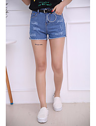 cheap -Women's High Rise strenchy Slim Jeans Shorts Pants,Street chic Solid Summer