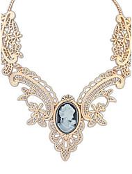 Недорогие -Жен. Синтетический сапфир Ожерелья-бархатки / Ожерелья с подвесками / Y Ожерелье - Резина, Стразы Друзья, Цветы Массивный, На заказ, Классика Регулируется, Гипоаллергенный, обожаемый